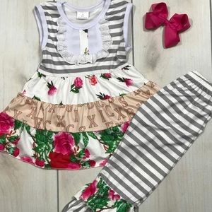 Other - Girls Spring Ruffle Floral Set